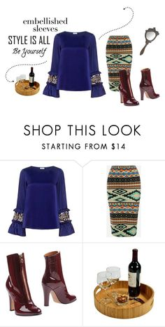 """""""Embellished Sleeves"""" by chiqiyoly ❤ liked on Polyvore featuring SUNO New York, Valentino, Picnic at Ascot, polyvoreeditorial and embellishedsleeves"""