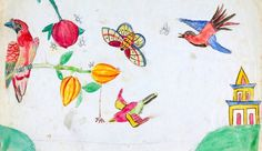 Illustration by one of Charles Darwin's children on his manuscripts | Cambridge University Library