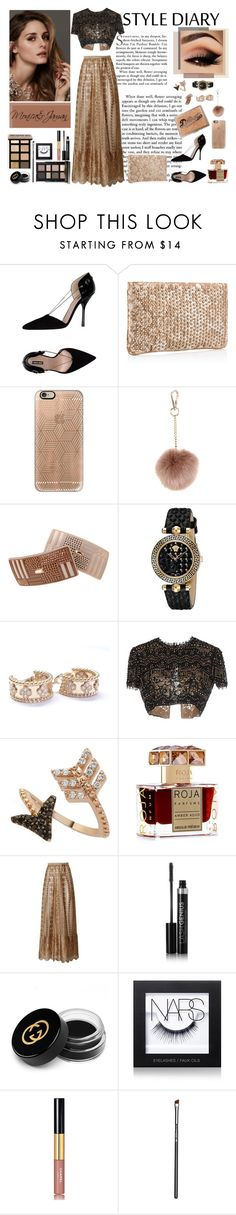 """Untitled #26"" by monica176 ❤ liked on Polyvore featuring Giorgio Armani, Christian Louboutin, Casetify, Accessorize, France Luxe, Versace, Van Cleef & Arpels, Emilio Pucci, Bee Goddess and Roja Parfums"