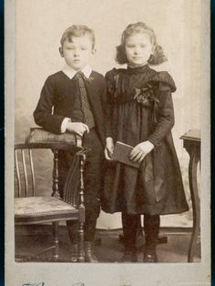 1890s photographs  [both children are deceased - you can see the posing stands behind them]