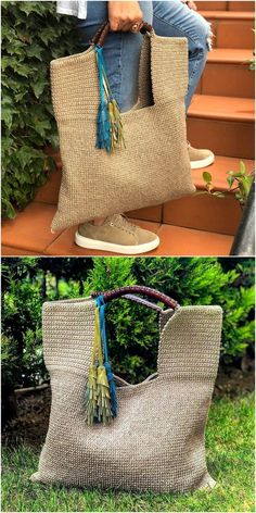 Women handbag crochet pattern idea Source by uaniol bags Bag Crochet, Crochet Handbags, Crochet Purses, Crochet Scarves, Diy Purse, Knitted Bags, Handmade Bags, Straw Bag, Crochet Patterns