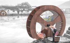 Roda de água se transforma em máquina de lavar sustentável