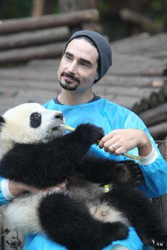 Backstreet Boy + Cute Panda....Come on! It's not even fair! Love.