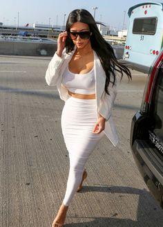 Kim Kardashian All White  givenxchyme: