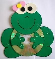 Fun Activities: Old CD Animal Crafts for Kids - Kids Art & Craft Kids Crafts, Frog Crafts, Animal Crafts For Kids, Art For Kids, Diy And Crafts, Arts And Crafts, Kids Fun, Art N Craft, Craft Work