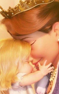 Baby Rapunzel and her mother // Disney Tangled Disney Rapunzel, Disney Pixar, Rapunzel Flynn, Deco Disney, Film Disney, Disney Animation, Disney And Dreamworks, Disney Girls, Disney Art