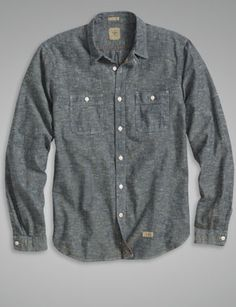 The Chambray Deck Shirt - Dark Indigo from Dockers #poachit