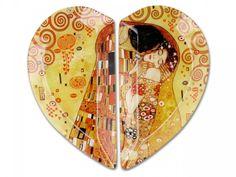 Sklenená tácka 2 dielna Gustav Klimt
