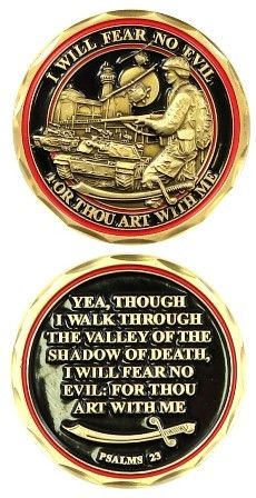 "Fear No Evil Challenge Coin Details: - Top quality Bronze Alloy - Measuring 1 5/8"" in diameter"