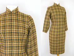 Verkauf Vintage 60er Jahren Mandarin Kleid  von johnnysixvintage, $35.00