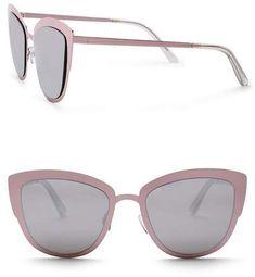 a2cf60b47f QUAY AUSTRALIA Women s Super Girl 51mm Cat Eye Sunglasses