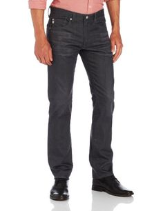 AG Adriano Goldschmied Mens The Matchbox Slim Straight Jean in 1 Year Grey, 1 Year Grey, 31