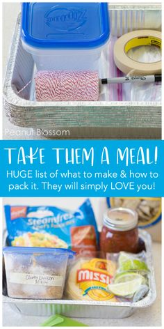 MAKE-AHEAD MEAL TRAIN IDEAS - Delivery Food - Ideas of Delivery Food - How to take them a meal train dinner. 30 recipes for bringing the best dinner to a friend in need. Tips for how to pack a meal train dinner and how to avoid endless pasta. Make Ahead Meals, Easy Meals, New Mom Meals, Family Meals, Diy Gifts For Christmas, Cooking Tips, Cooking Recipes, Thm Recipes, Fudge Recipes