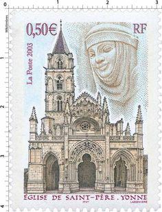 Timbre : 2003 ÉGLISE DE SAINT-PÈRE. YONNE | WikiTimbres
