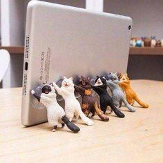 Practical Multi Function Mobile Phone Car Holder Phone Grip Strap Unique Pvc Cat