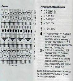 shema-vyazanija-yubka-kruchkom.jpg (521×585) Falda malva