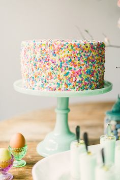 Colorful Sprinkle Cake