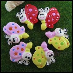 SALE 6 pcs flat back resin mini butterfly mixed by AboveDeluxe, $1.00