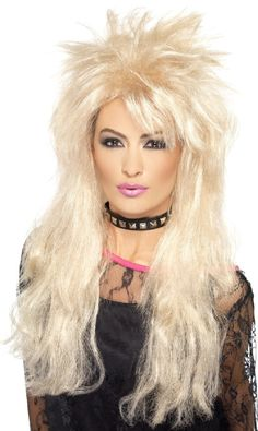 You can buy a Smiffy's Long Mullet Wig for costume parties from the Halloween Spot. Complete your costume in parties with this blonde long mullet Wig. Long Layered Hair, Long Curly Hair, Curly Hair Styles, Blonde Wig, Blonde Color, Dolly Parton Wigs, Mullet Wig, Modern Mullet, Fancy Dress Wigs