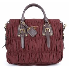 ca93fcd4e3ad real prada gathered nylon handbag bn1336 in burgundy on sale [6bag9891] -  $309.60 : #Prada #Handbags #Outlet
