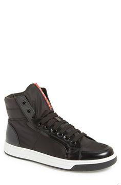 Prada+'Avenue'+High+Top+Sneaker+(Men)+available+at+#Nordstrom