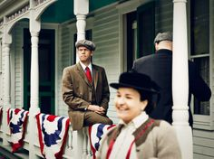 A reenactment of the Wright brothers' return to Kitty Hawk, at the Henry Ford Museum in Dearborn, Michigan