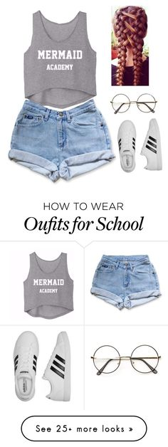 """School 01"" by joana-dawson on Polyvore featuring Levi's and adidas"