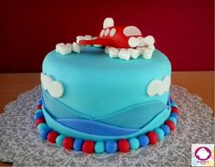 Baby plane cake
