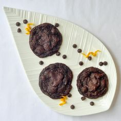 Orange Dark Chocolate Chip Cookies - like Terry's chocolate orange? Enjoy that delicious flavor combination in these crispy, chewy cookies that have received many, many rave reviews on Rock Recipes. Great for the Holidays!