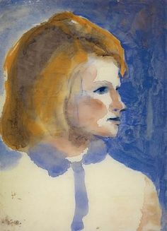 Emil Nolde, Junges Friesenmädchen ♣️Fosterginger.Pinterest.Com🌑More Pins Like This One At FOSTERGINGER @ PINTEREST 🌑No Pin Limits🌑でこのようなピンがいっぱいになる🌑ピンの限界🌑