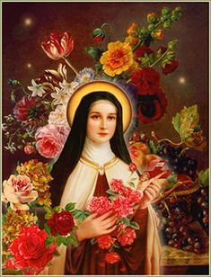 """Therese of the Child Jesus, Therese of Lisieux."""" A Flower for Every Day and Religious Pictures, Religious Icons, Religious Art, Jesus Pictures, Catholic Art, Catholic Saints, Patron Saints, Sainte Therese De Lisieux, Ste Therese"""