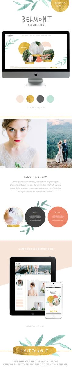 This would be awesome to win and update my personal bloggy blog! :)  modern pretty website theme - GOLIVEHQ.CO