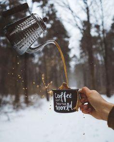 coffee + snow