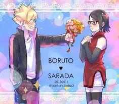 boruto y sarada Naruto And Sasuke, Anime Naruto, Sasuke Sakura Sarada, Naruto Girls, Naruto Art, Sarada E Boruto, Yamanaka Inojin, Naruto Shippuden, Naruhina