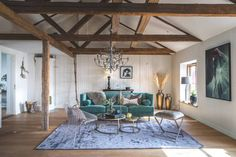 decordemon: A Swedish loft with a touch of French rustic charm