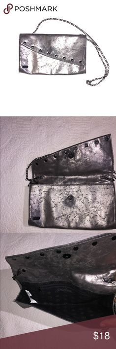 Vans gunmetal distressed cross body Used in wonderful condition,  a little bit of fading in the back center see last picture lots of room perfect for any occasion straps detached so you can wear as a clutch super pretty Vans Bags Crossbody Bags
