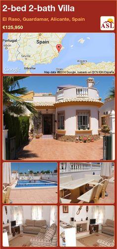 2-bed 2-bath Villa in El Raso, Guardamar, Alicante, Spain ►€125,950 #PropertyForSaleInSpain