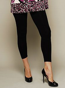 These Olian Maternity Leggings are super stretchy and soft. Can easily be dressed up or down. Wear with flats or heels, a tank or a blouse. Great versatility and comfort! On clearance for $29.95 from $54.00