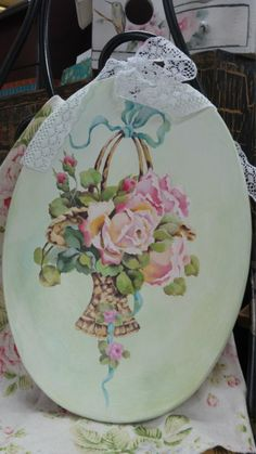 Shabby Chic Painting, Rose Art, Painting On Wood, Flower Art, Art Drawings, Craft Projects, Decorative Plates, Frame, Crafts