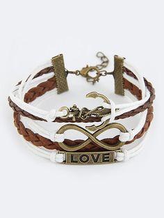 Love Anchor Infinity Strand Bracelet #men, #hats, #watches, #belts, #fashion, #style