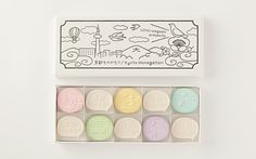 "Japanese confectionery packaging - Uchu Wagashi ""Kyoto Story"""