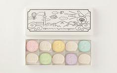 "Japanese confectionery packaging - Uchu Wagashi ""Kyoto Story"""