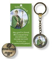 Saint Patricks day inspirational gifts with Irish blessings. May good St. Patrick bless you and keep you in his are, and may our Lord be near you, to answer every prayer. St Patrick's Day Gifts, Irish Blessing, Patron Saints, Inspirational Gifts, St Patricks Day, Key Chain, Ring, Rings, Quarter Ring