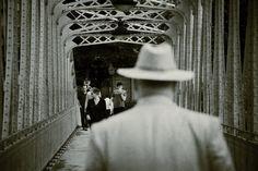 The man on the iron bridge
