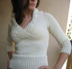 A hoodie with a youthful edge, Corona is comfy, cozy and sexy all in one. A virtually seamless design creates a less fuss knit. Free pattern on Ravelry.