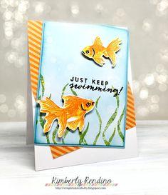 goldfish   layering stamp   hero arts   handmade card   handmade   kimpletekreativity.blogspot.com