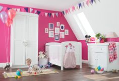 Beautifully crafted with a horizontal twist on the classic tongue and groove styling, the Jessica range is a contemporary collection that includes a cot bed, a changer and wardrobe to grow with your baby through to the toddler years and beyond.