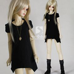 1/3 1/4 66cm cotton one-piece dress_-for girl_CLOTHES-for 70cm_welcome to SW&doll workshop!^_^