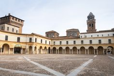 """Palazzo Ducale Square - """"Mantua by bike, between art and nature"""" by @crowdedplanet"""