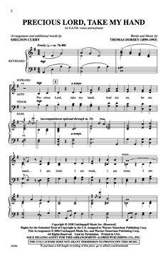Precious Lord, Take My Hand (SATB ) by Thoma | J.W. Pepper Sheet Music, for our choir, already have the music